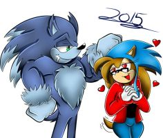 Request: Brittney Fangirling Sonic the Werehog by Shadow4one