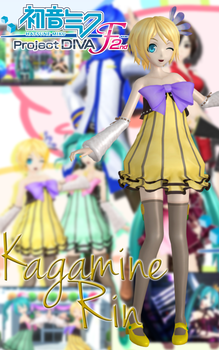 Kagamine Rin (Cheerful Candy) by Sticklove