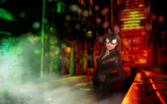 Catwoman: Come Out and Play with me by IceDragonCosplay