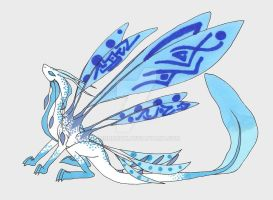 White blue dragon by Mononok