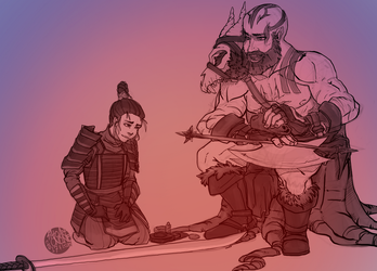 Grog Strongjaw and Ide Shika by Thrythlind