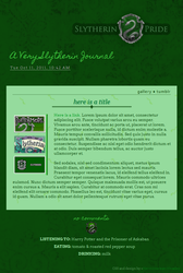 Slytherin Journal Skin by gracelessnight