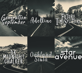 Font Pack 1 by crystalrayne24