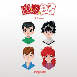Yu Yu Hakusho - 25 years by LuizRaffaello