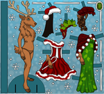 Reindeer Paper Doll by heatherleeharvey