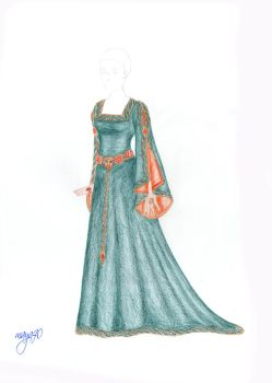 Cersei Green gown by maya40