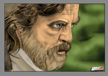 Luke Skywalker The Last Jedi Color version by Punch-line-designs