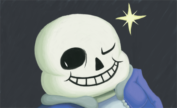 Halloween Drawing - Sans (Undertale) by Thelimomon