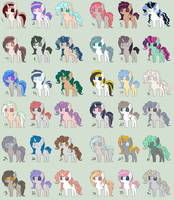 Pony Point Adopts .:1 POINT EACH:. by xXLovingponiesXx