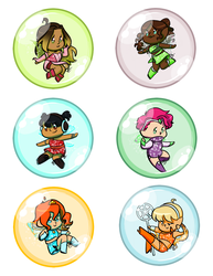 Winx Bubble Stickers by WhateverCat