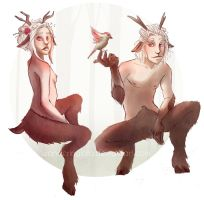 Satyrs by WanderingLola