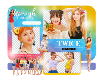 TWICE PNG PACK #11/Dance The Night Away PT.2 by Upwishcolorssx