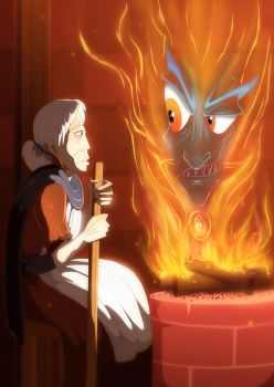 Sophie Speaks with Calcifer by DrZime