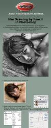 Pencil Effect in Photoshop by idhuy