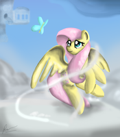 Fluttershy and a Butterfly by Phendyl