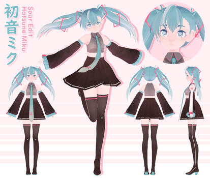 [Model] Sour Miku Edit [Download Soon] + Video by StylinSorrowMMD