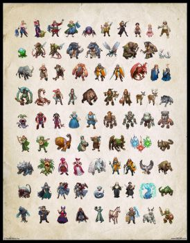 Fatecraft characters by Belibr