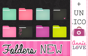 New folders by annielove (+185 watchers) by Analaurasam