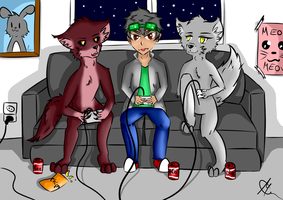 Kota and the werewolves gaming by Lucasfan375