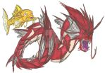 Shiny Magikarp and Gyarados Realistic by EmperorDinobot