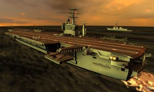 USS Nimitz Aircraft Carrier for XPS (posable) by Haganeya