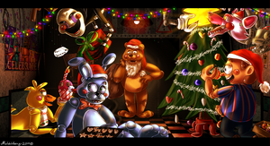 Have a Merry FNAF2 Christmas! by Joki-Art