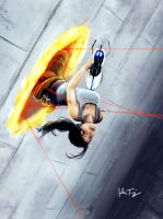 Chell Down by RyoTazi