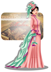 Vintage Princess - Mulan by tiffanymarsou