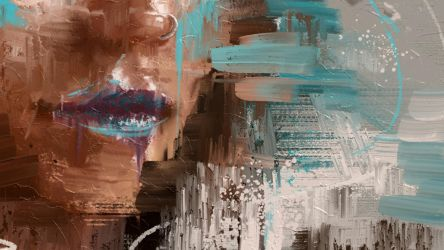 Abstract Portrait Painting - 2Promotion/MA-Brushes by MichaelAdamidisArt