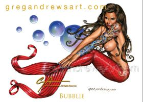 BUBBLIE Fantasy Sexy Mermaid Art Greg Andrews Arti by Greg-Andrews-Art