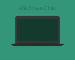 Flatified Asus X502C PSD by Gemneroth