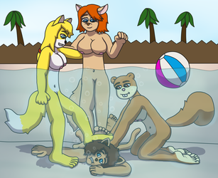 Rough Pool Party (Commission) by TobyMcDee