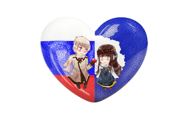 {PC}APH Chibi Heart Flag Series: Russica by Spirit-Okami