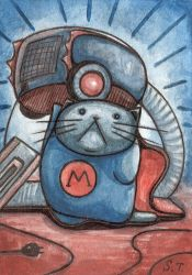 ACEO Super Cat by Siriliya