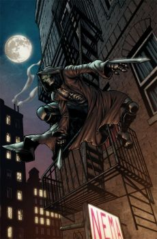 Winter City #3 Pinup by Carlos Gomez and ArtMunki by Winter-City-Comics