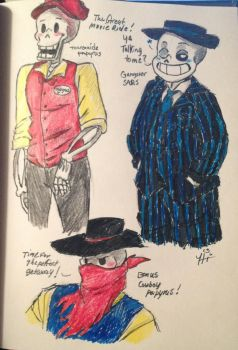 The Great Movie Ride Sans and Papyrus by princessofDisney27