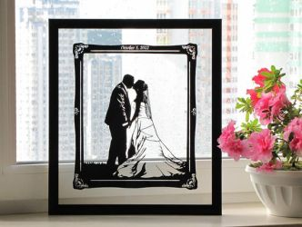 Custom Handmade Papercut for the First Anniversary by DreamPapercut