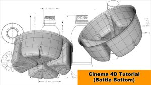 Bottle Bottom (Cinema 4D Tutorial) by NIKOMEDIA