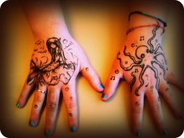 Hand Art by Checker-Bee