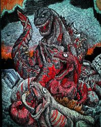 SHIN-GOJIRA/GODZILLA RESURGENCE - Colored version  by Erickzilla