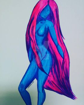 Playing with Markers: Female Form by Lost-Leanore