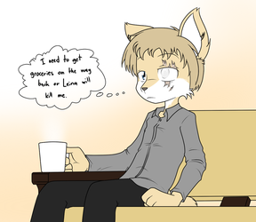 Deep in Coffee thoughts by Sandwich-Anomaly