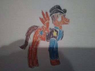 Cowboy Adric (MLP version) by RedWesternRanger