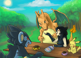 Stopped for a Snack by IceCatDemon