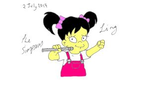 Ling from the Simpsons by naniloke