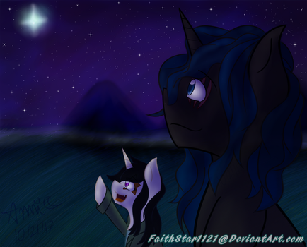 Starry Night (b-day gift to phantom/shadow) by FaithStar1121