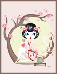 Geisha Pin up by OoAngeliusoO