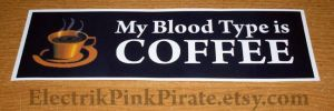 My Blood types COFFEE sticker by ElectrikPinkPirate