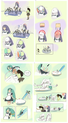 Lavender and Iris go to the Pie Pod and Pie Slide by otototoi