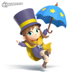 Hat Kid Smashified (transparent) by hextupleyoodot